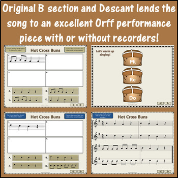 Hot Cross Buns: Orff, Recorder, Rhythm, Melody, Form and More