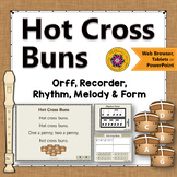 Orff Arrangement ~ Hot Cross Buns: Orff, Soprano Recorder, Rhythm & Melody