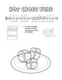 """Hot Cross Buns"" Printable Song Sheet"