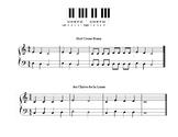 Hot Cross Buns and Au Claire de la Lune - Piano Sheet Music