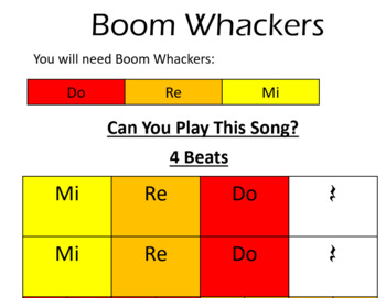 Hot Cross Buns for Boomwhackers
