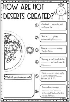 Hot Desert Climates Scribble Notes