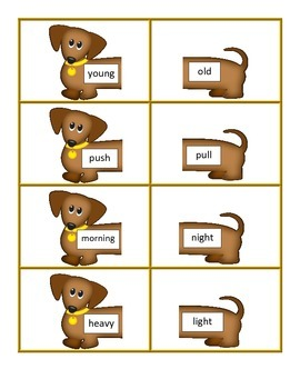 Hot-Diggity-Dog Antonyms - A Freebie