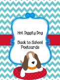 Hot Diggity Dog Back to School Postcards