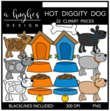 Hot Diggity Dog Clipart {A Hughes Design}