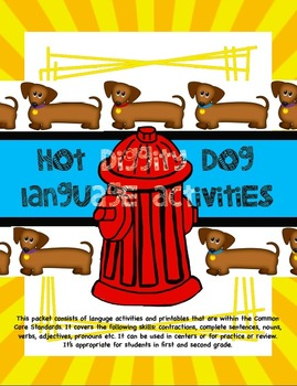 Hot Diggity Dog Language Activities