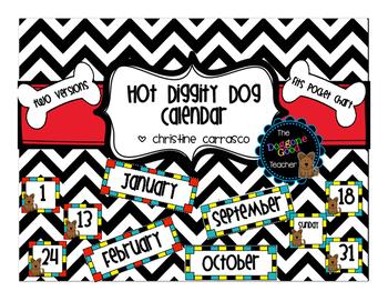 Hot Diggity Dog Pocket Chart Calendar