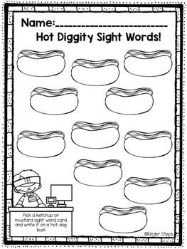 Hot Diggity Sight Words!