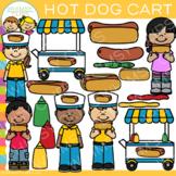 Hot Dog Cart Clip Art