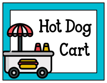 Hot Dog Cart-Dramatic Play