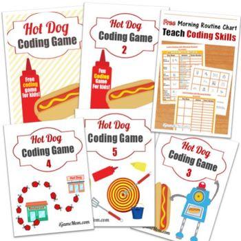 Hot Dog Coding Game Bundle (Game 1 to 5 + bonus)
