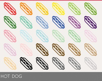 Hot Dog Digital Clipart, Hot Dog Graphics, Hot Dog PNG