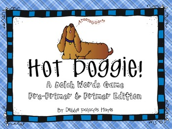 "Sight Words: ""Hot Doggie!"" Dolch Words Game - Pre-Primer &"