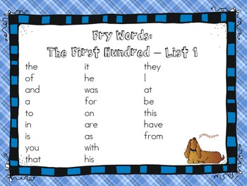 "Sight Words: ""Hot Doggie!"" Fry Words Game - The First Hundred Edition"