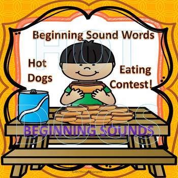 """Hot Dogs Eating Contest """"Beginning Sound CVC Words"""""""