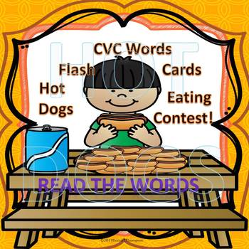 "Hot Dogs Eating Contest ""Read the Flash Cards"""