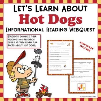 Hot Dogs Webquest Fun Reading Internet Research Activity