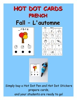 Hot Dot activity cards - French Fall / L'automne