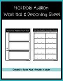 Hot Dots Addition Work Mat & Recording Sheet
