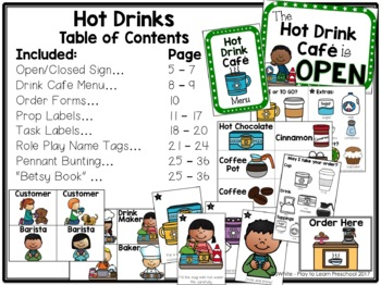 Hot Drink Cafe Dramatic Play