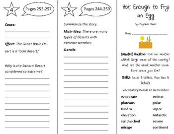 Hot Enough to Fry an Egg Trifold - Open Court 3rd Grade Unit 2 Lesson 5