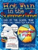 """Hot Fun in the Summertime"" Beach Ball Flip Flap Book {End"