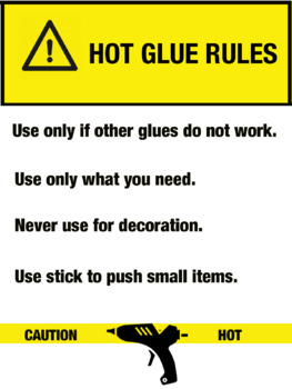 Hot Glue Rules Poster
