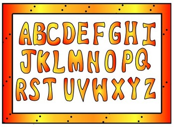 Hot Hot Hot Colors: Capital, Lower Case, Numbers and Symbol Clip Art