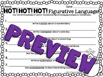 Hot! Hot! Hot! Figurative Language (Winter Literary Device Unit)
