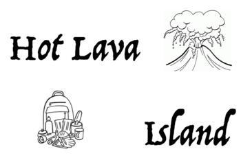 Hot Lava Island Physical Education Game