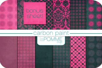 Hot Pink & Charcoal Carbon Paint Digital Paper Pack