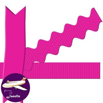Hot Pink Clip Art Decoration Scrapbooking Elements - 60 items
