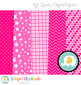 Hot Pink Digital Papers