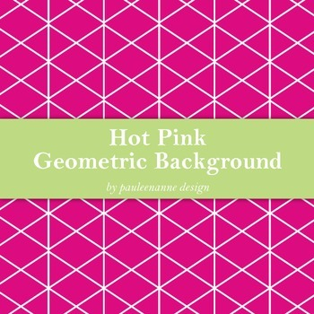 Hot Pink Geometric Background