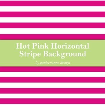 Hot Pink Horizontal Stripe Background