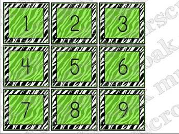 Calendar Kit: Zebra with hot pink & lime green