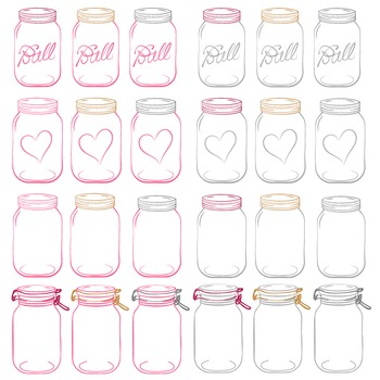 Hot Pink Mason Jars Clipart & Vectors - Ball Jar Clipart