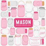 Hot Pink Mason Jars Clipart & Vectors - Ball Jar Clipart