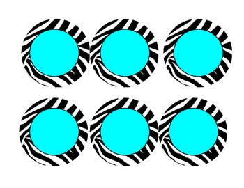 Hot Pink, Neon Green, Turquoise Zebra Numbers 1-25 AND blanks