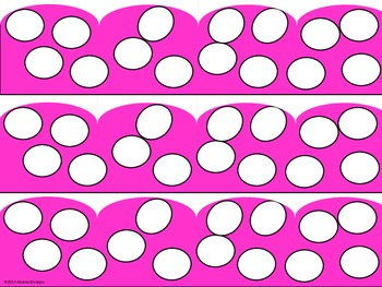 Hot Pink Polka Dot Borders