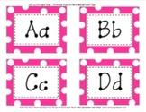 Word Wall Hot Pink Polka Dot Alphabet Tags Classroom Decor