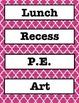 Hot Pink Quatrafoil Schedule Cards