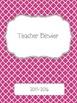 Hot Pink Quatrefoil 2015-2016 Teacher Binder Planner