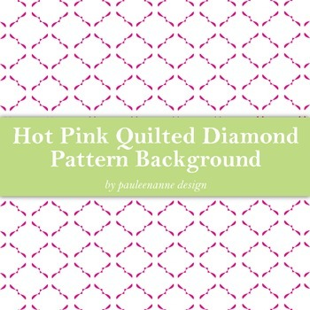 Hot Pink Quilted Diamond Pattern Background