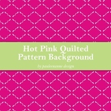 Hot Pink Quilted Pattern Background