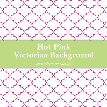 Hot Pink Victorian Pattern Background