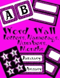 Hot Pink Zebra Bulletin Board Letters ~ Months ~ Numbers ~ Nametags