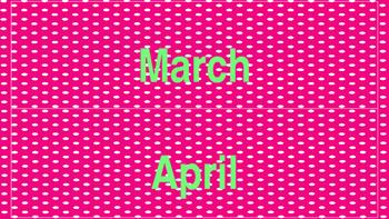 Hot Pink and Lime Green Calendar Set