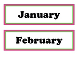 Hot Pink and Lime Green Months, Days, and Blank Labels