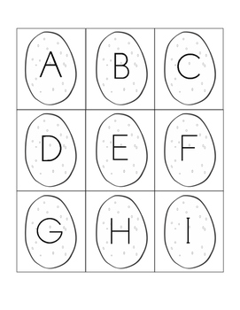 Hot Potato - Capital & Lowercase Letter Cards